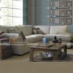 Mẫu ghế sofa góc vải nỉ trắng tinh tế cho nhà thêm sang trọng – Mã: SVG-046