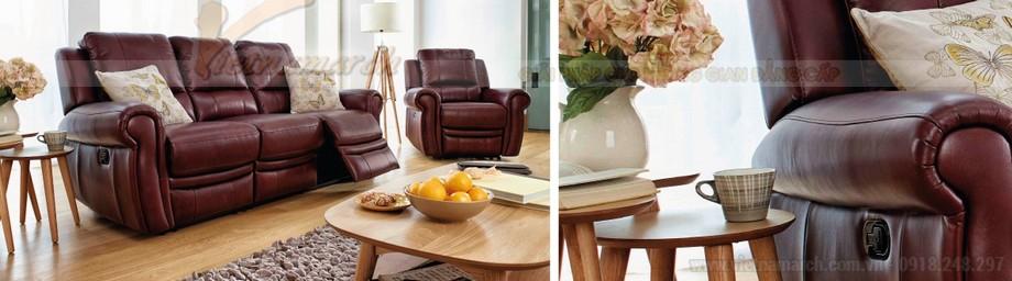 Ghế sofa văng chất liệu da 3 chỗ ngồi mới nhất - 01