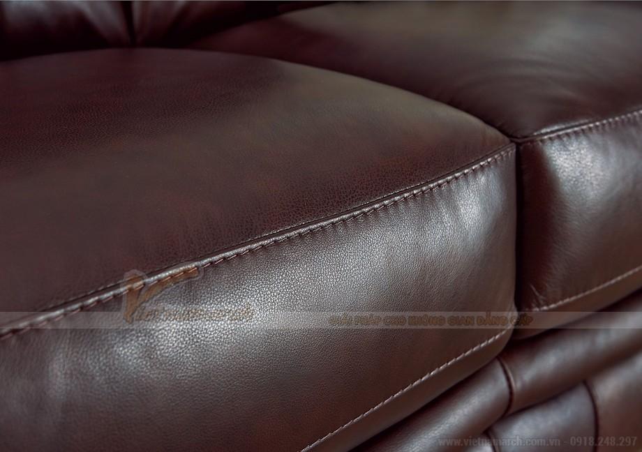 Ghế sofa văng chất liệu da 3 chỗ ngồi mới nhất - 04