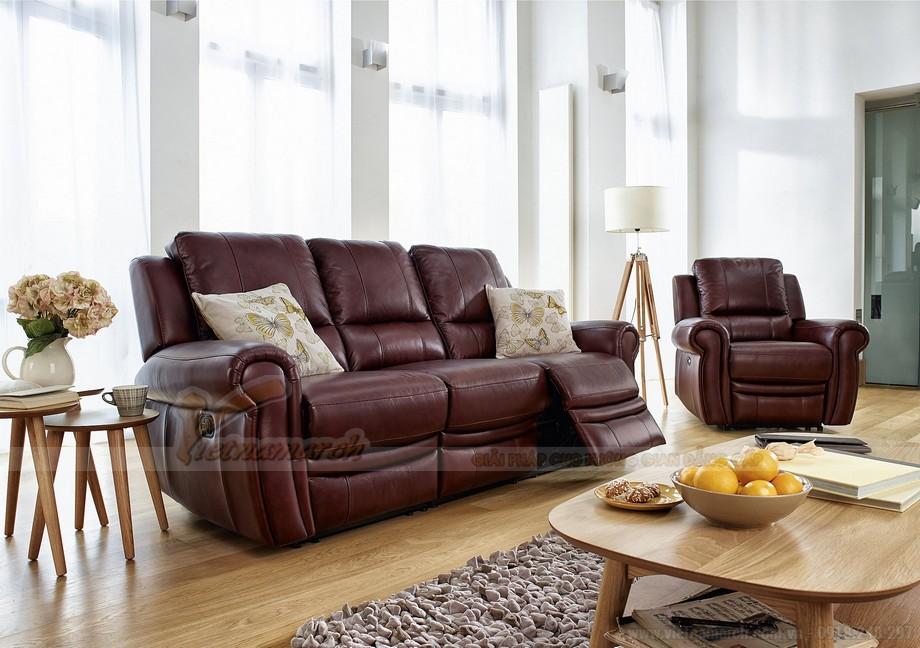 Ghế sofa văng chất liệu da 3 chỗ ngồi mới nhất - 02