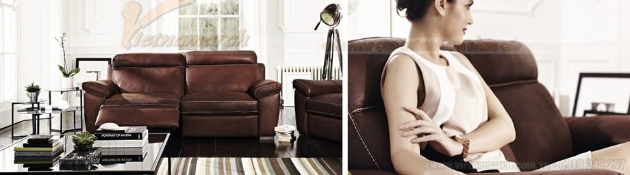 Ghế sofa văng chất liệu da hai vị trí ngồi đặc biệt - 01