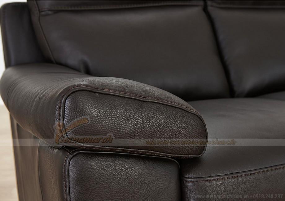 Ghế sofa văng chất liệu da hai vị trí ngồi đặc biệt - 03