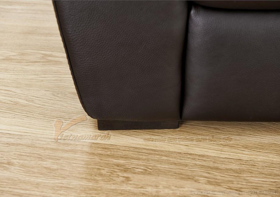 Ghế sofa văng chất liệu da hai vị trí ngồi đặc biệt - 04