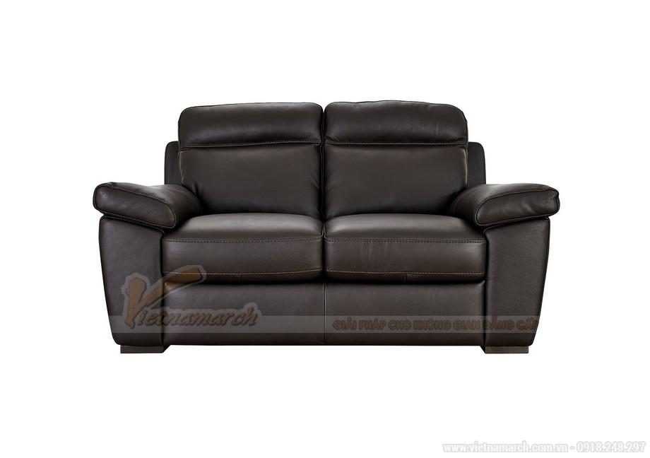 Ghế sofa văng chất liệu da hai vị trí ngồi đặc biệt - 05