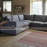 Mẫu ghế sofa góc vải sợi linen đầy tinh tế – Mã số: SVG-049