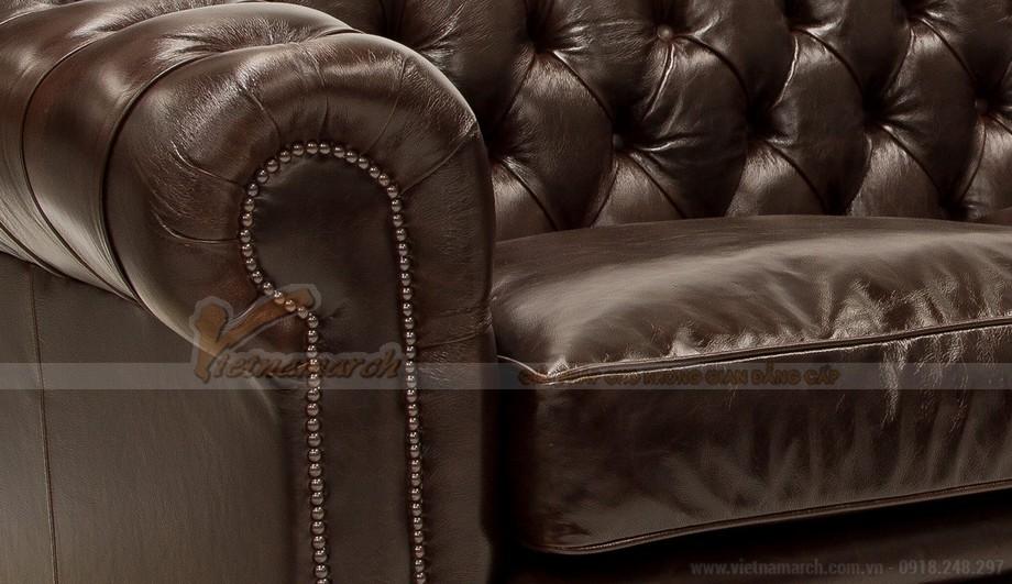 Mẫu ghế sofa da văng cổ điển cho không gian phòng khách trang nhã - 04