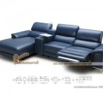 Mẫu ghế sofa góc da công nghiệp kiểu dáng Anh quốc – Mã: SDG-053