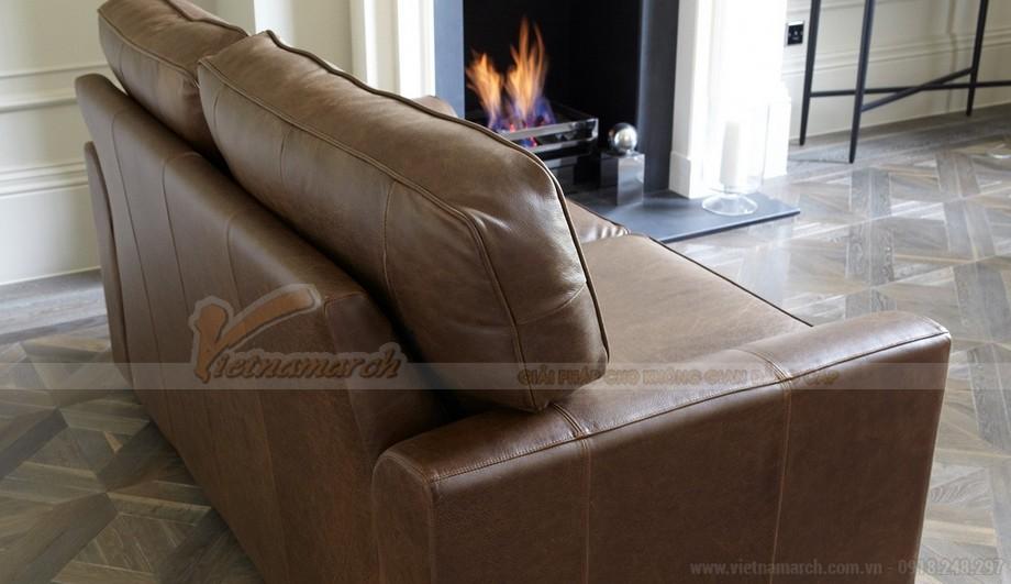 Mẫu ghế sofa da kiểu dáng chữ I xinh xắn - 03