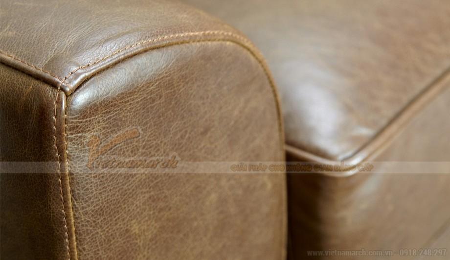 Mẫu ghế sofa da kiểu dáng chữ I xinh xắn - 04