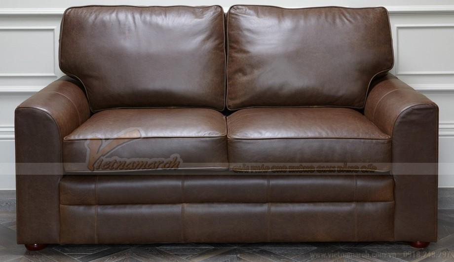 Mẫu ghế sofa da kiểu dáng chữ I xinh xắn - 01