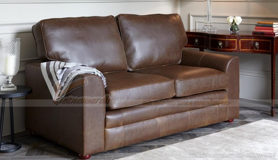 Mẫu ghế sofa da kiểu dáng chữ I xinh xắn - 02