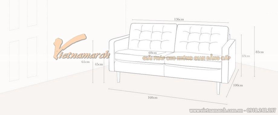Thông số sản phẩm mẫu ghế sofa văng cho năm 2016