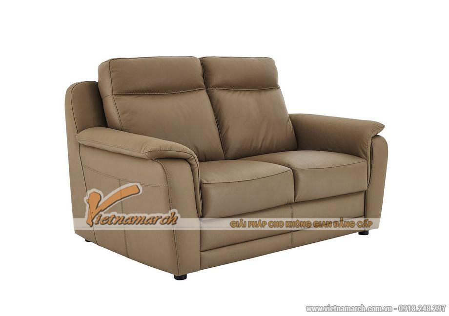Mẫu ghế sofa da văng 2 chỗ ngồi cho không gian phòng khách nhỏ - 01