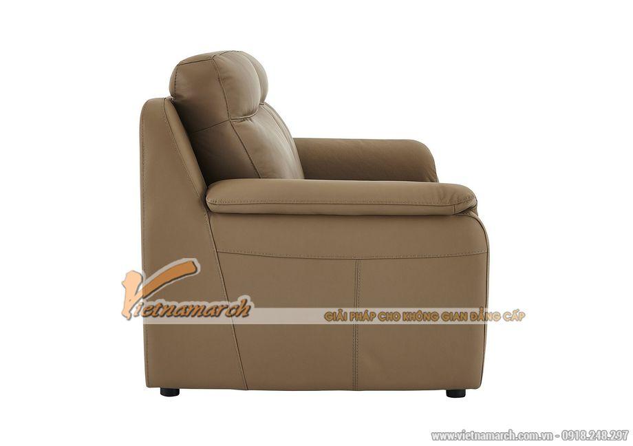 Mẫu ghế sofa da văng 2 chỗ ngồi cho không gian phòng khách nhỏ - 03