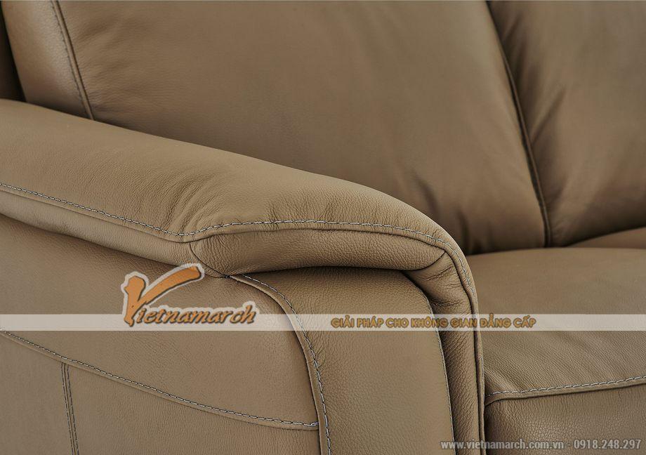 Mẫu ghế sofa da văng 2 chỗ ngồi cho không gian phòng khách nhỏ - 04