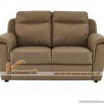 Mẫu ghế sofa da văng 2 chỗ ngồi màu sắc trung tính cho phòng khách nhỏ – Mã: SDV-064