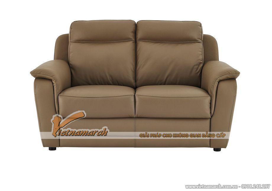 Mẫu ghế sofa da văng 2 chỗ ngồi cho không gian phòng khách nhỏ - 02
