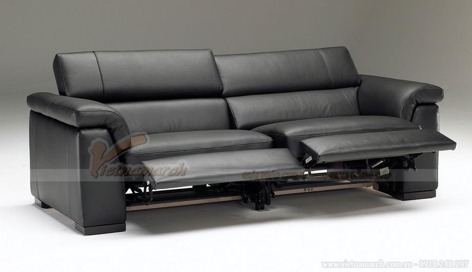 Mẫu ghế sofa da văng bóng mịn - 01