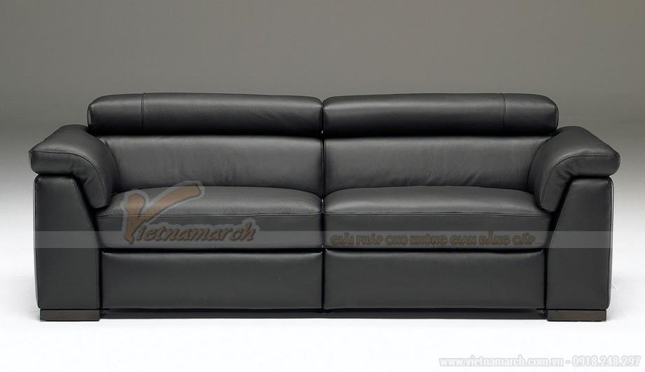 Mẫu ghế sofa da văng bóng mịn - 02