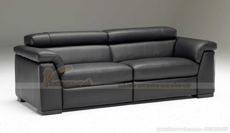Mẫu ghế sofa da văng bóng mịn - 03