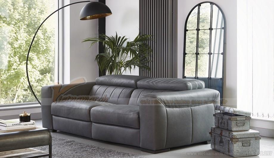 Mẫu ghế sofa da văng chất liệu đệm mút có độ đàn hồi cực cao - 01