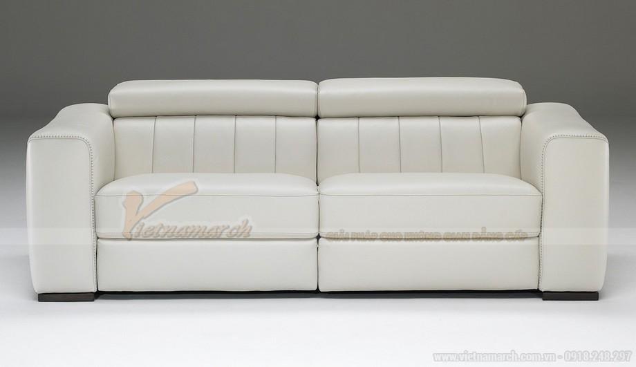 Mẫu ghế sofa da văng chất liệu đệm mút có độ đàn hồi cực cao - 03