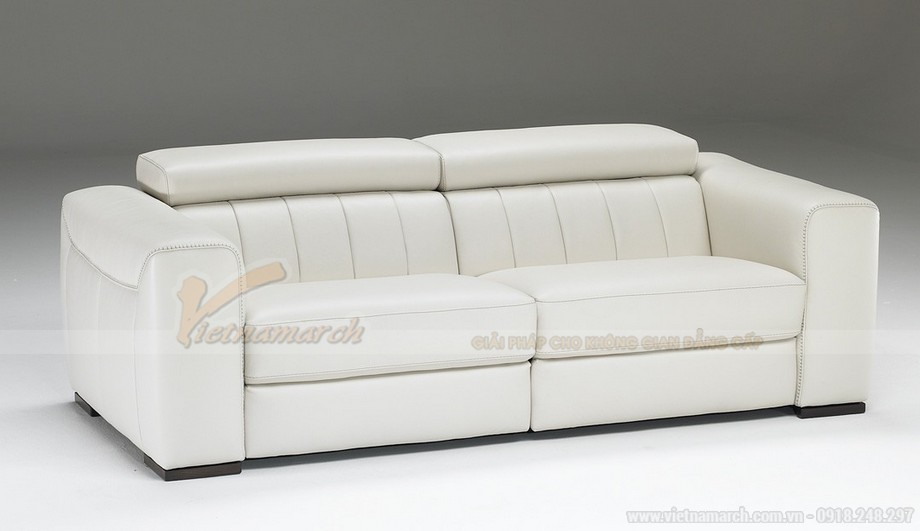 Mẫu ghế sofa da trắng đẹp lung linh cho không gian phong khách - 07