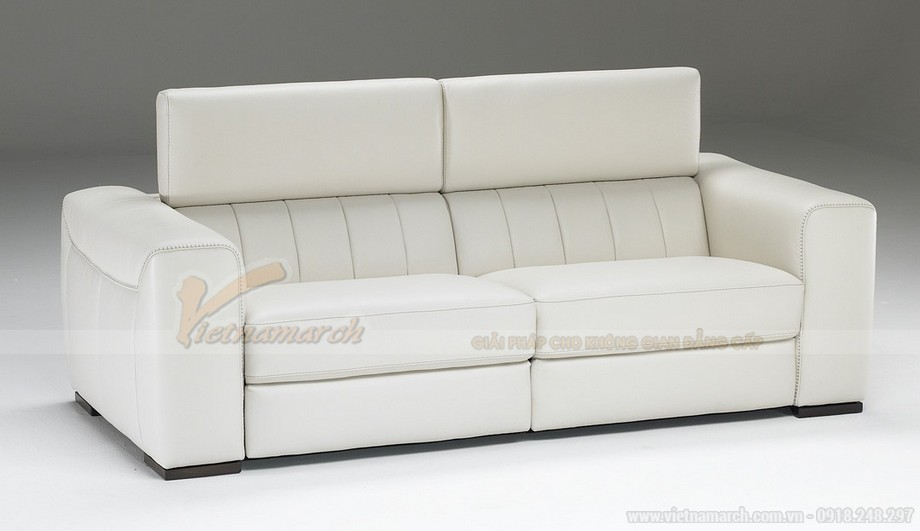 Mẫu ghế sofa da văng chất liệu đệm mút có độ đàn hồi cực cao - 05