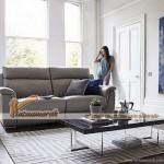 Mẫu ghế sofa da kiểu dáng thẳng văng cho phòng khách thanh lịch – Mã: SDV-063