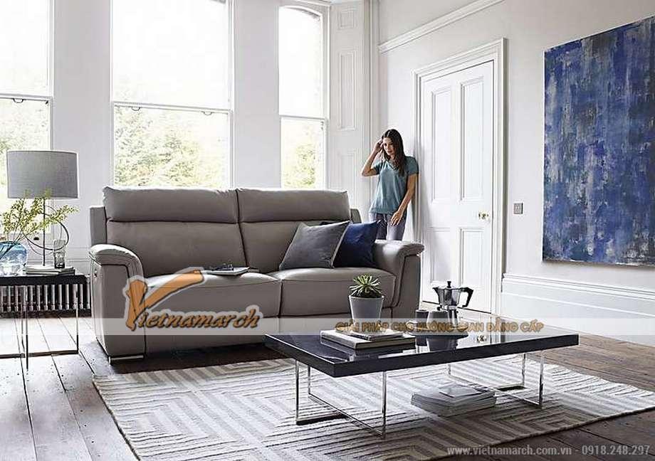 Mẫu ghế sofa da văng cho phòng khách thanh lịch -03
