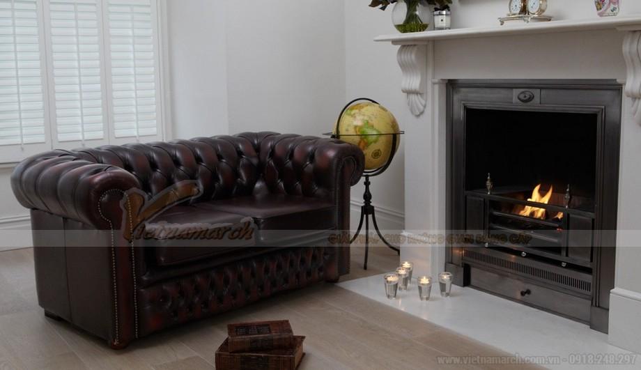 Mẫu ghế sofa da văng cổ điển sang trọng và đẳng cấp - 01