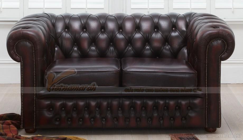 Mẫu ghế sofa da văng cổ điển sang trọng và đẳng cấp - 02