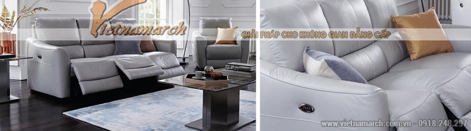 Mẫu ghế sofa da văng đa tính năng phong cách hiện đại - 01