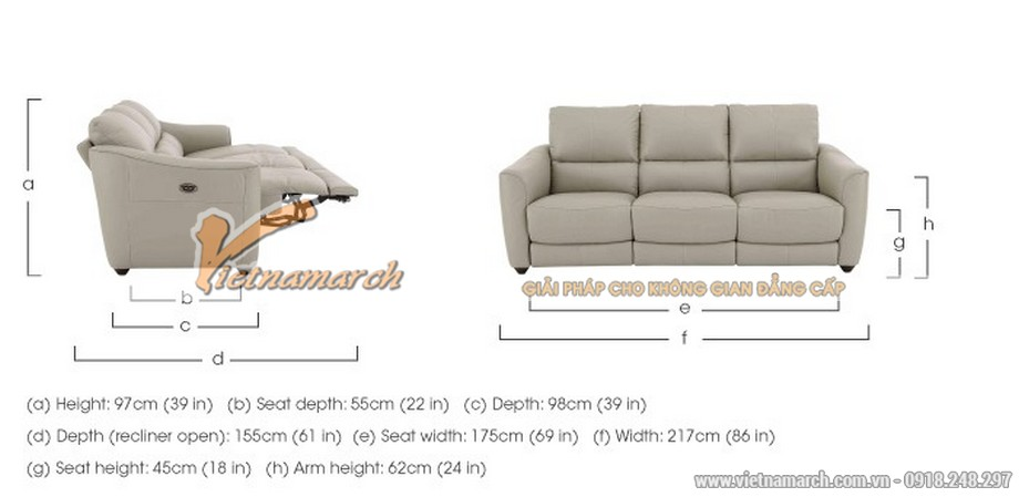 Mẫu ghế sofa da văng đa tính năng phong cách hiện đại - 05