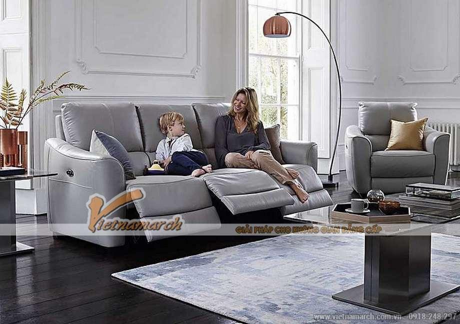 Mẫu ghế sofa da văng đa tính năng phong cách hiện đại - 03