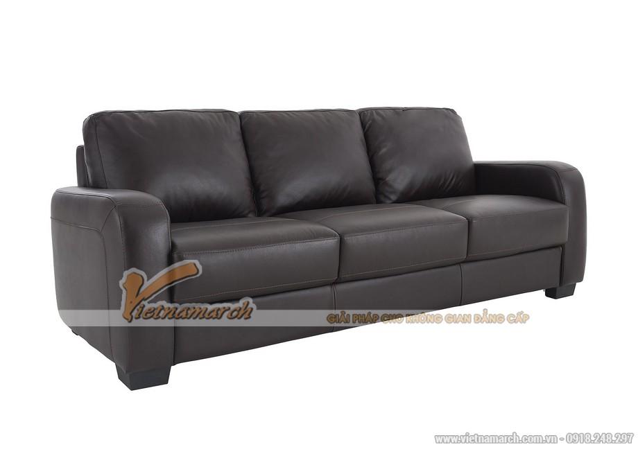 Mẫu ghế sofa văng da đen tuyền quý phái - 02