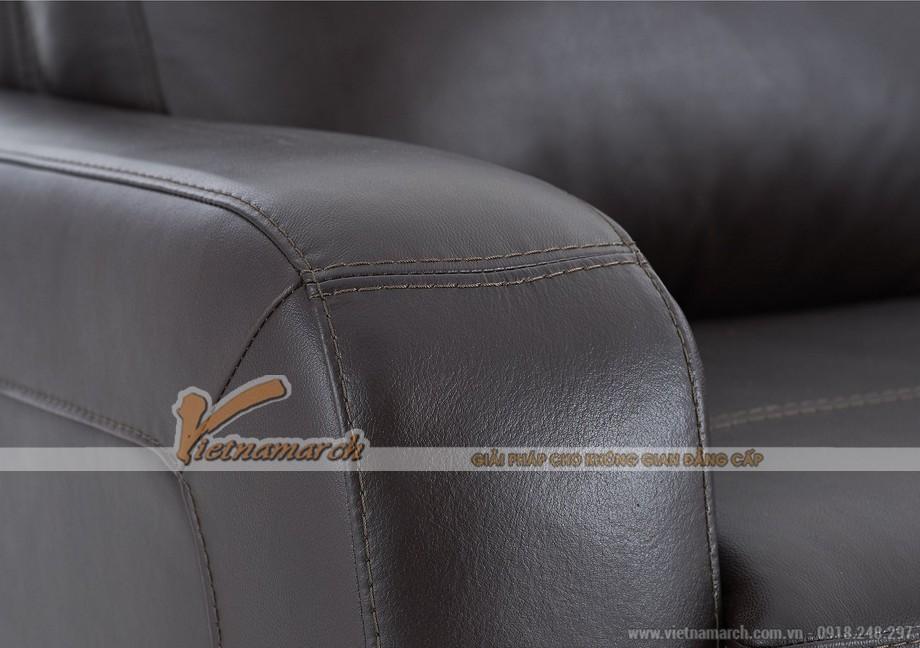 Mẫu ghế sofa văng da đen tuyền quý phái - 03