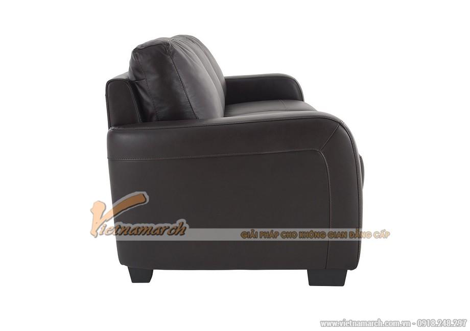 Mẫu ghế sofa văng da đen tuyền quý phái - 04