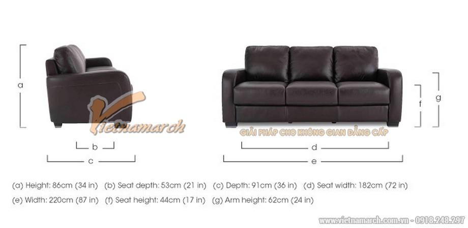 Mẫu ghế sofa văng da đen tuyền quý phái - 07