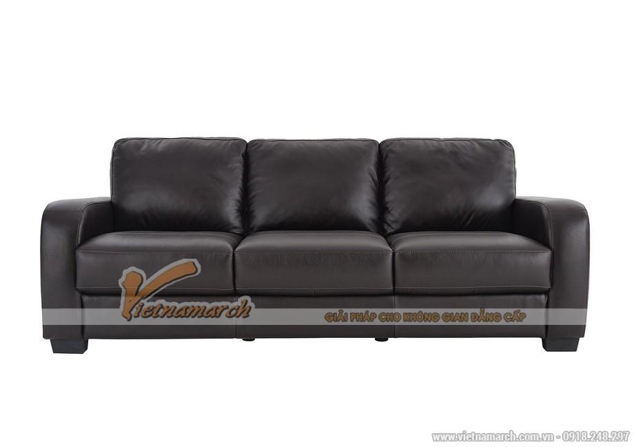 Mẫu ghế sofa văng da đen tuyền quý phái - 06