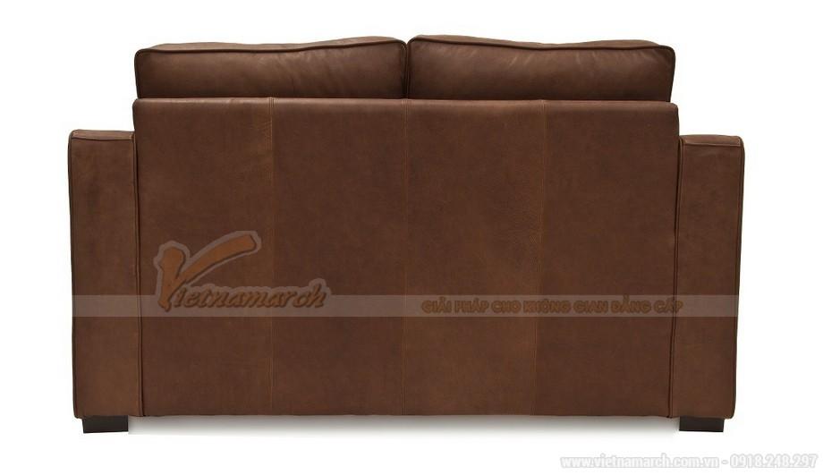 Mẫu ghế sofa da văng hai chỗ ngồi phong cách cổ điển - 03