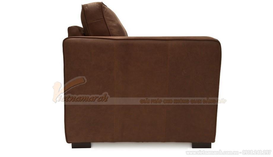 Mẫu ghế sofa da văng hai chỗ ngồi phong cách cổ điển - 04
