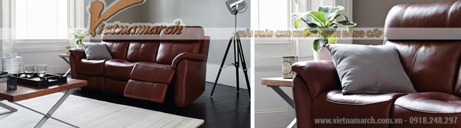 Mẫu ghế sofa da văng lý tưởng cho không gian phòng khách - 01