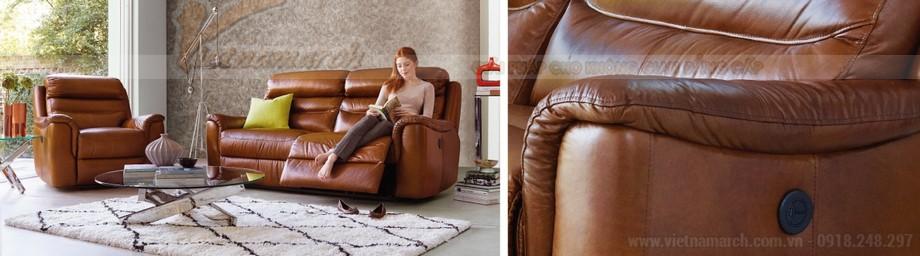 Mẫu ghế sofa da văng nhập khẩu Ấn Độ - 01