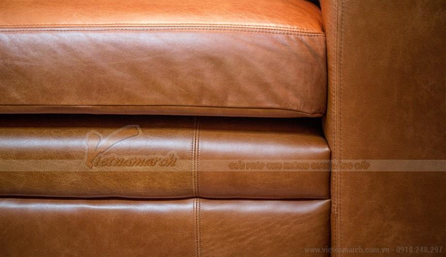 Mẫu ghế sofa da văng phong cách tân cổ điển sang trọng - 05