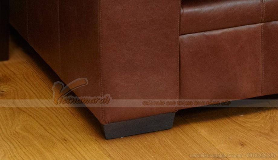 Mẫu ghế sofa da văng phong cách tân cổ điển sang trọng - 06