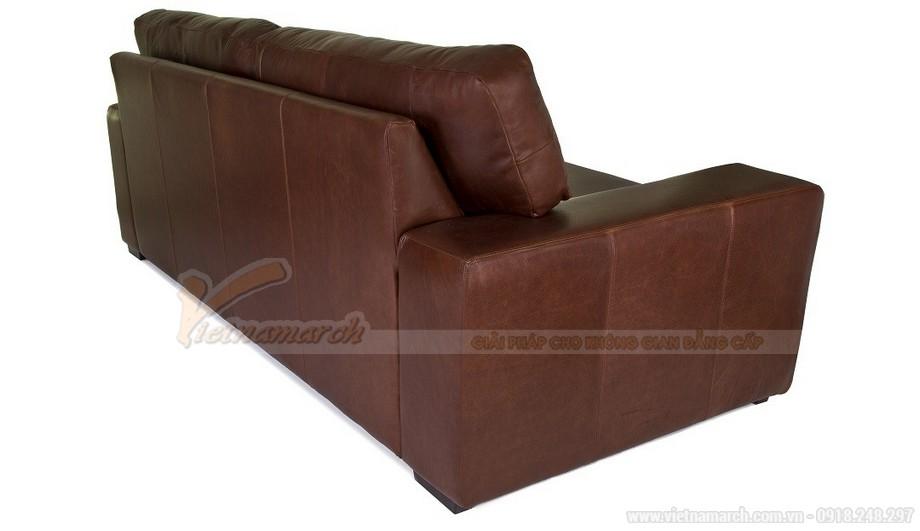 Mẫu ghế sofa da văng phong cách tân cổ điển sang trọng - 04