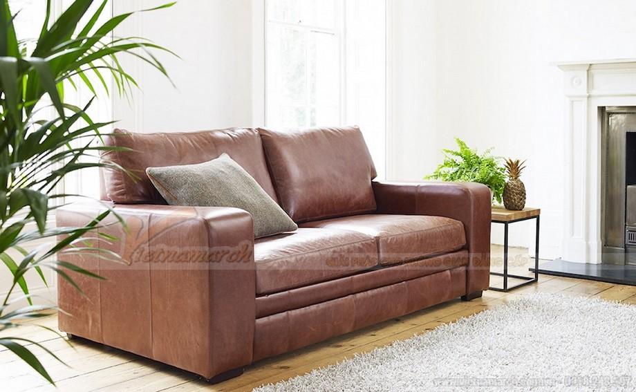 Mẫu ghế sofa da văng phong cách tân cổ điển sang trọng - 03