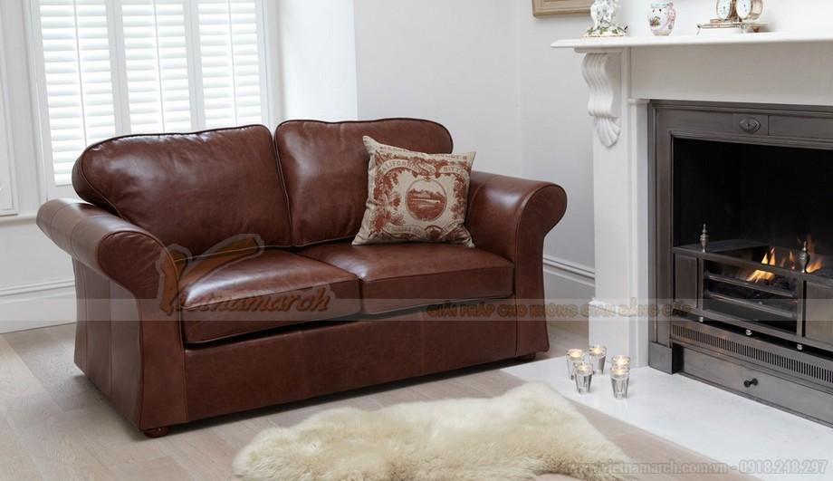 Mẫu ghế sofa da văng tân cổ điển đa chức năng - 01