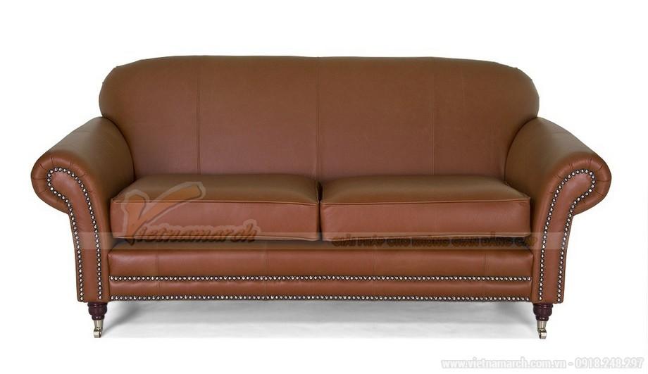 Mẫu ghế sofa da văng thiết kế chân xoay linh động - 03